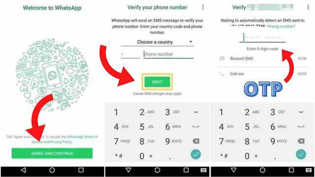 Whatsapp id Banana सीखें | व्हाट्सएप आईडी बनाना सीखें
