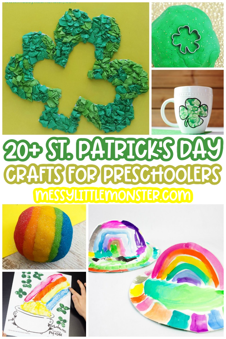 St Patrick's Day crafts for kids.