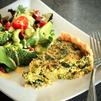 Easy Broccoli and Spinach Quiche Recipe