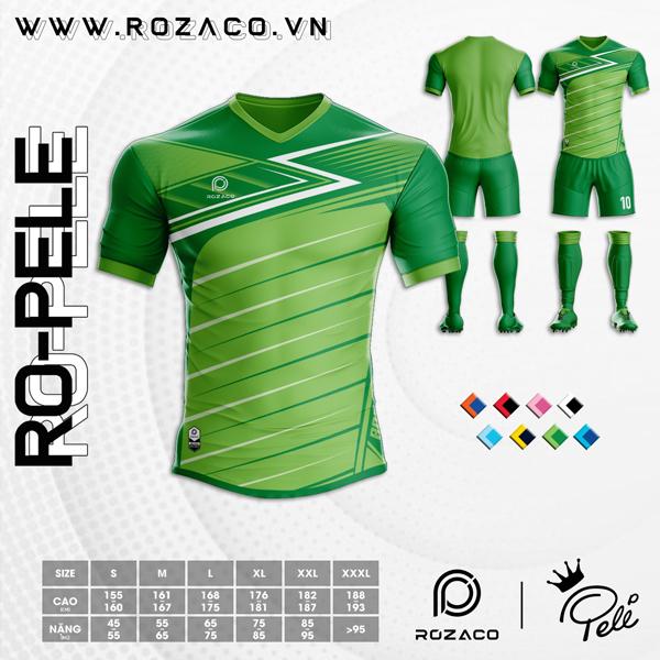 Áo Không Logo Rozaco RO-PELE Màu Xanh Két