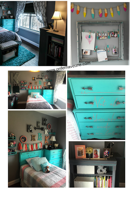 Room makeover with arrows