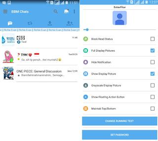 BBM Mod Twitter Versi 2.12.0.11 Apk Tema Baru BBM Android Gratis