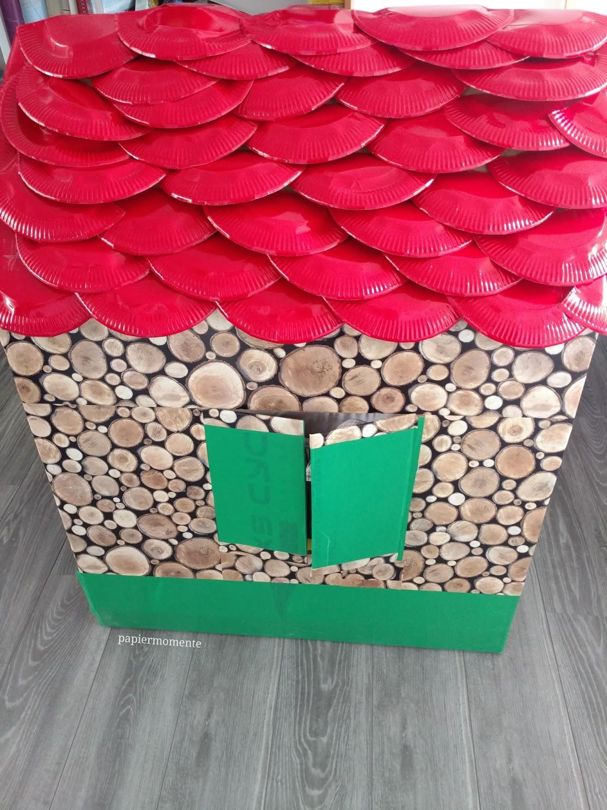 wiola 39 s papiermomente gro es spielhaus aus pappkarton. Black Bedroom Furniture Sets. Home Design Ideas
