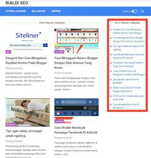Cara membuat dan memasang widget Postingan terbaru