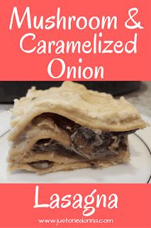 Mushroom and Caramelized Onion Lasagna