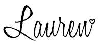 This image shows the signature of Stampin' Up! Demonstrator Lauren Huntley and appears at the bottom of every blog post.