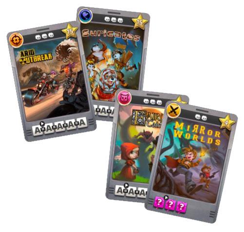 Cartas do jogo O Bom do Videogame