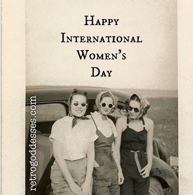 Happy International Women's Day. Rachel Hancock @retrogoddesses