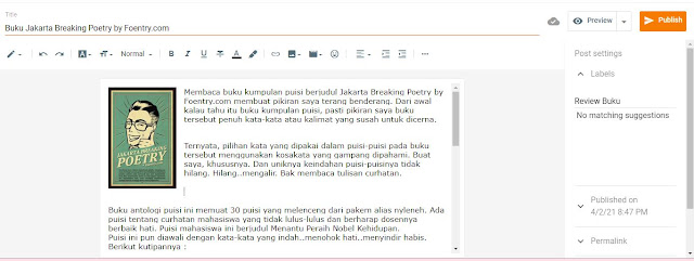 Membuat postingan di blog - AIS Production