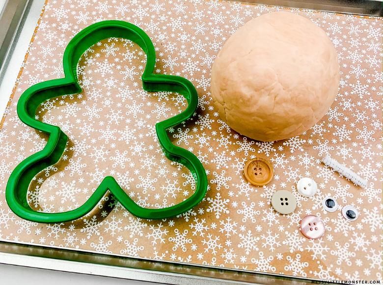 gingerbread cloud dough recipe for sensory play