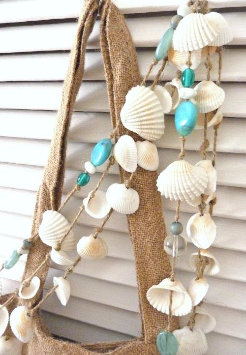 Seashell Garland Idea with Beads