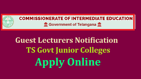Board of Intermediate Education Telangana State inviting Online Application forms from the eligible aspirants for the posts of Guest Lecturers to work in Governement Junior Colleges accross the Telangana State. Interested candidates may submitted their Online Application Form at official website www.cie.telangana.gov.in as per the Schedule given in the orders. Here are the clear guidelines on how to Submit Online Application Form telangana-guest-lecturers-hiring-in-govt-junior-colleges-submit-online-application-form