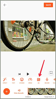 Background icon in YouCut Tutorial edit Video YouCut