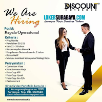 We Are Hiring at Discount Notebook Agustus 2020