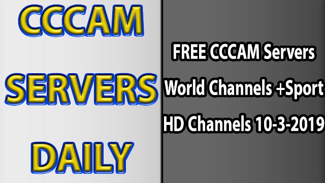 FREE CCCAM Servers World Channels +Sport HD Channels 10-3-2019