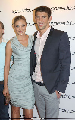 Micheal Phelps and  his girlfriend Megan Rossee
