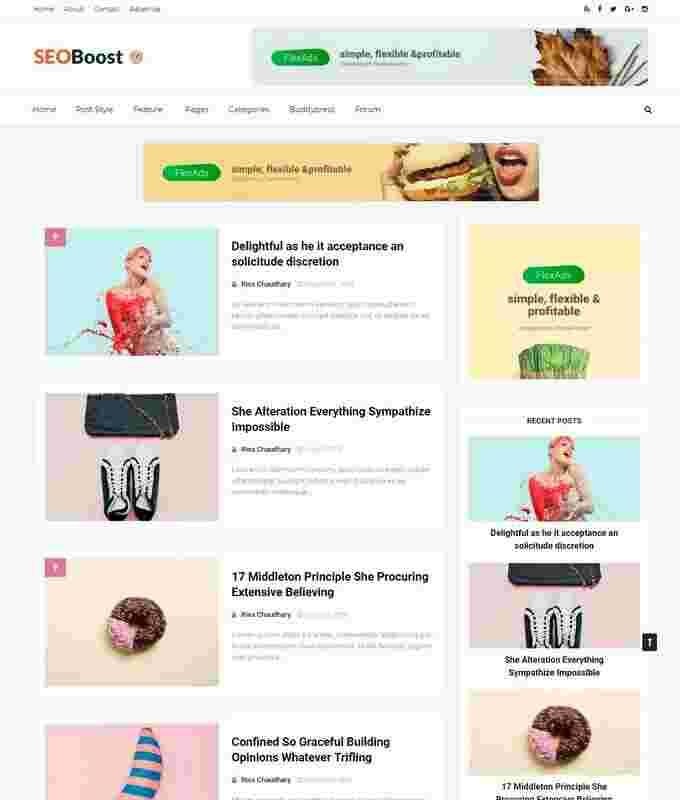 Free Template Blogger SEO Boost