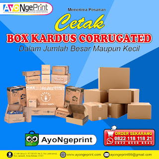 Cetak Box Kardus Corrugated Custom Murah di Regol Bandung