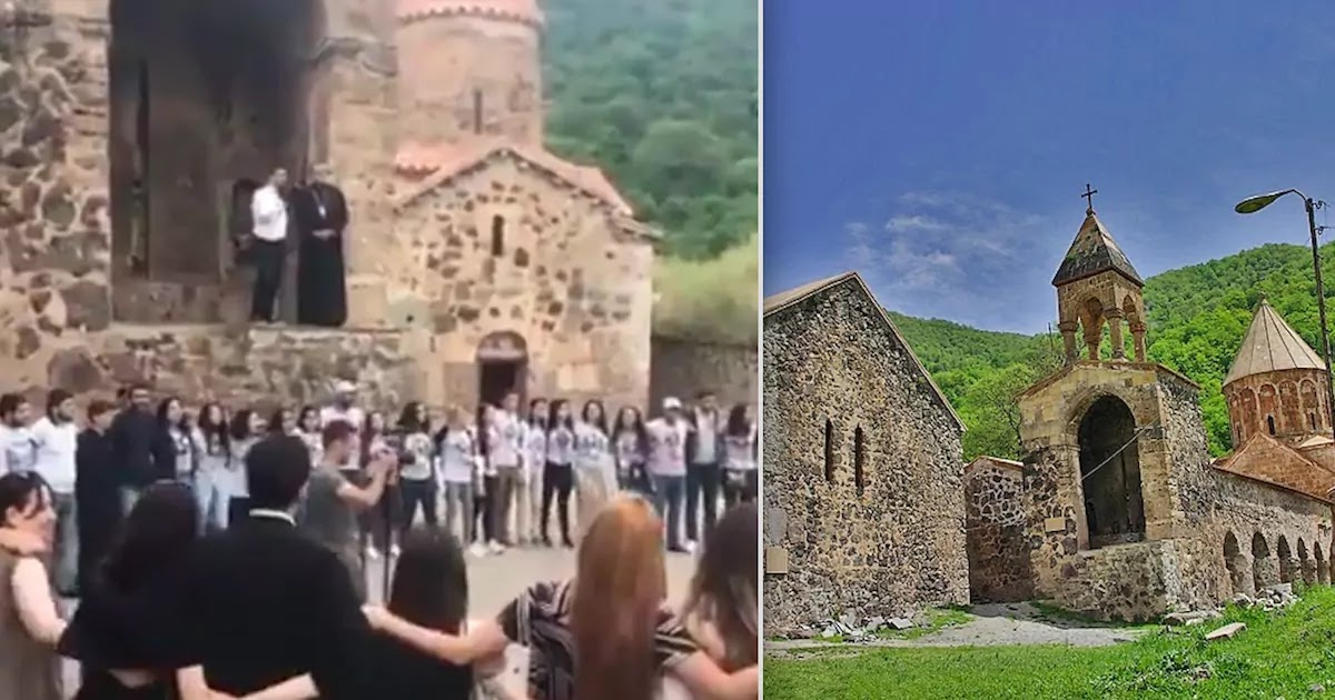 Armenians Say Goodbye To Ancient Monastery In Artsakh Before It Is Seized By Azerbaijanis