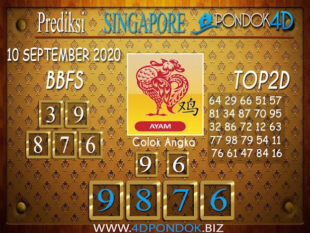 Prediksi Togel SINGAPORE PONDOK4D 09 SEPTEMBER 2020