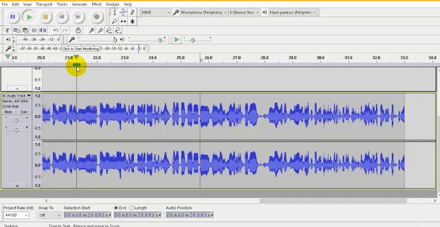 برنامج تسجيل الصوت واضافة مؤثرات Audacity تضخيم وتقطيع الصوت للكمبيوتر