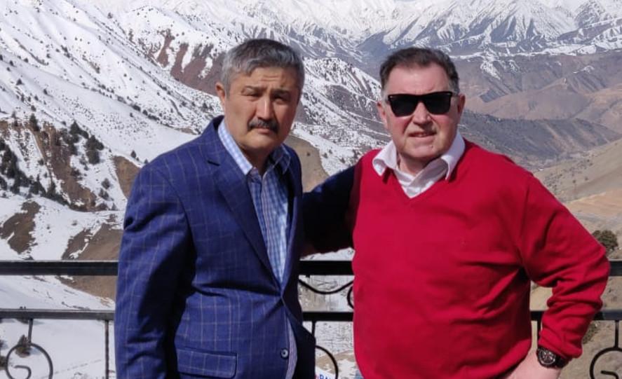 Bogusław Baniak w Uzbekistanie | foto: Twitter / BaniakBbto