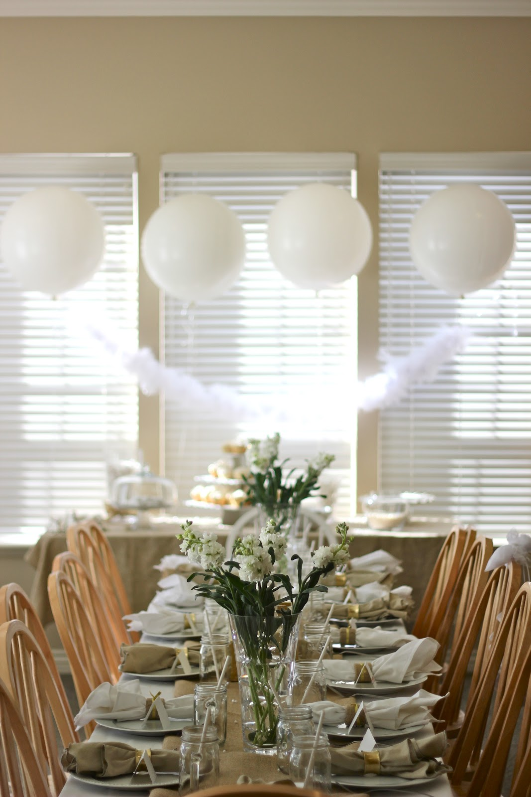 Housewife Memoirs E S All White Bridal Shower