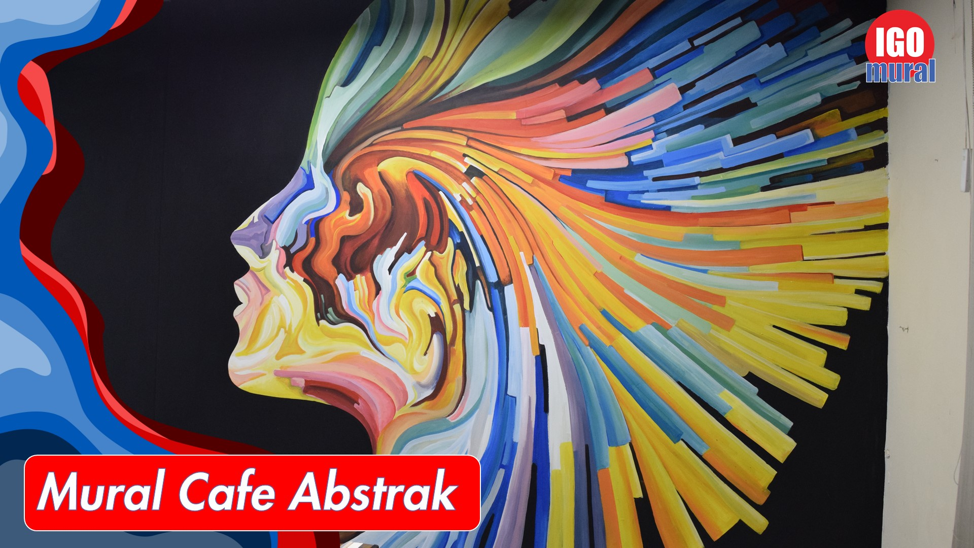 Mural Cafe Abstrak