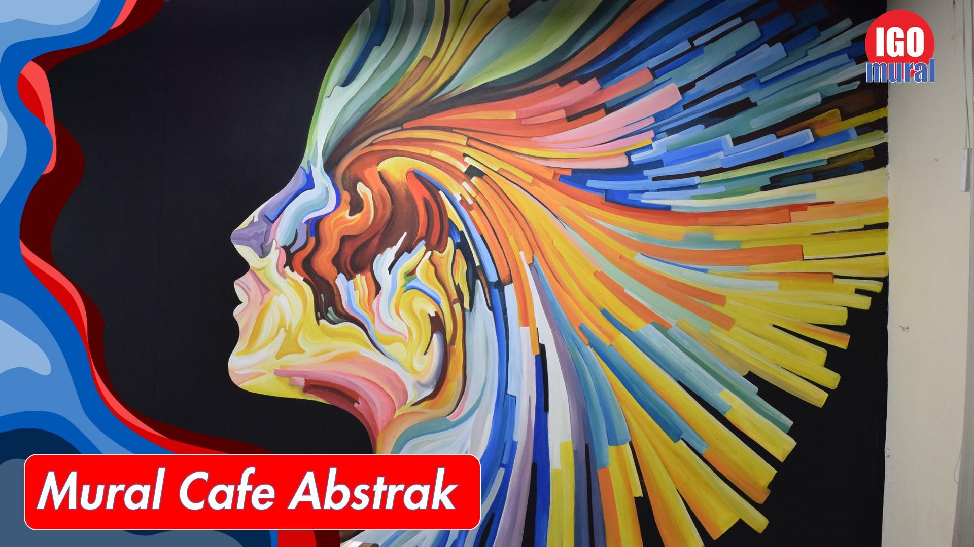 Mural Cafe Abstrak