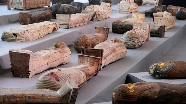 100 mummies buried more than 2500 years ago has been discovered in Cairo