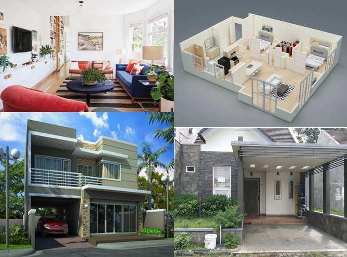 Model minimalis depan rumah dengan batu alam