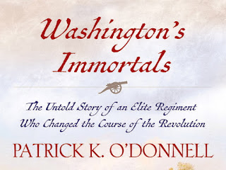 patrick k o'donnell washington's immortals revolutionary war battle of brooklyn maryland regiments delaware mordecai gist peggy chew continental army