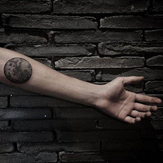 moon tattoo design on sleeve for men