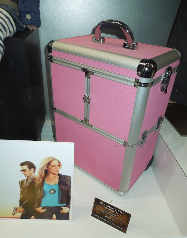In Plain Sight pink suitcase prop