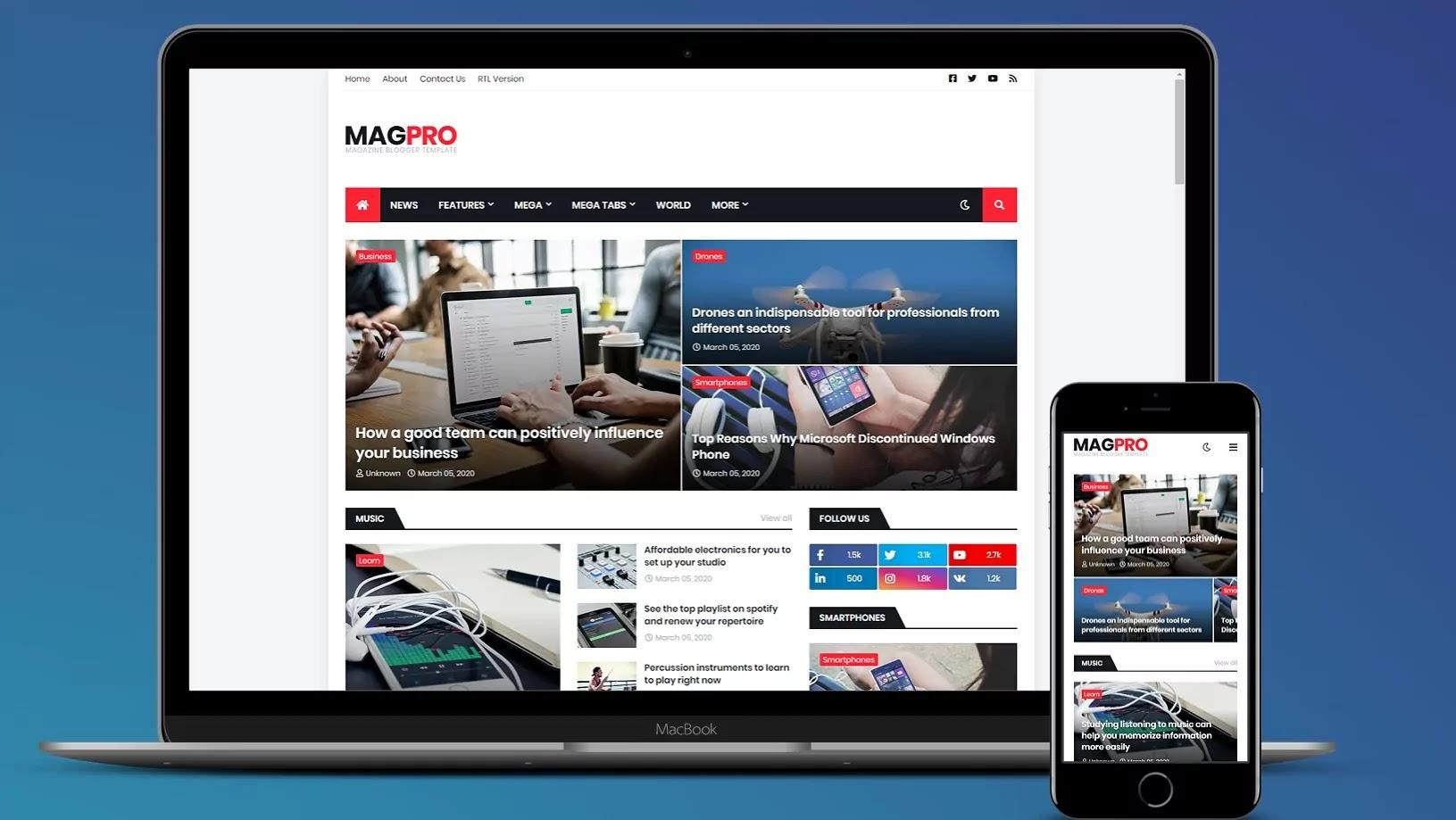 MagPro Blogger Template