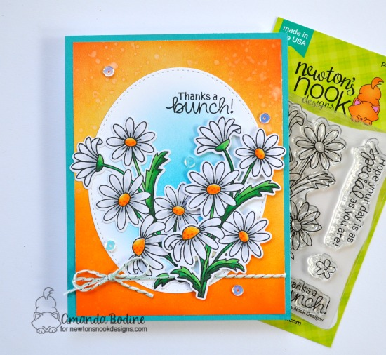 Daisy Card by Amanda Bodine | Dainty Daisies Stamp Set by Newton's Nook Designs #newtonsnook #handmade