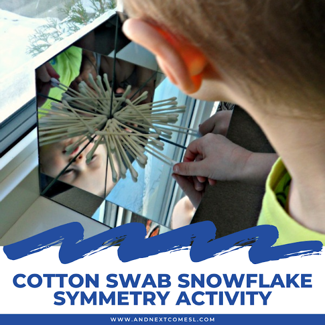 Snowflake symmetry activity for kids