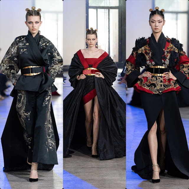 "Elie Saab Haute Couture Fall-Winter 2019-2020. First ""Chinese"" collection. RUNWAY MAGAZINE ® Collections. RUNWAY NOW / RUNWAY NEW"