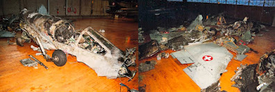 "Mirage IIIS J-2336 ""Geronimo"" Wrack nach Absturz am 21.02.1994"