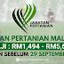 Jawatan Kosong Jabatan Pertanian Malaysia ~ Gaji : RM1,494.00 - RM5,674.00
