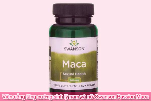 Viên cải thiện chức năng sinh lý Swanson Passion Maca