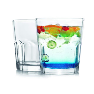 Frabjous Clear Glass Made Water Glasses Juice Glasses Tumblers Set for Home