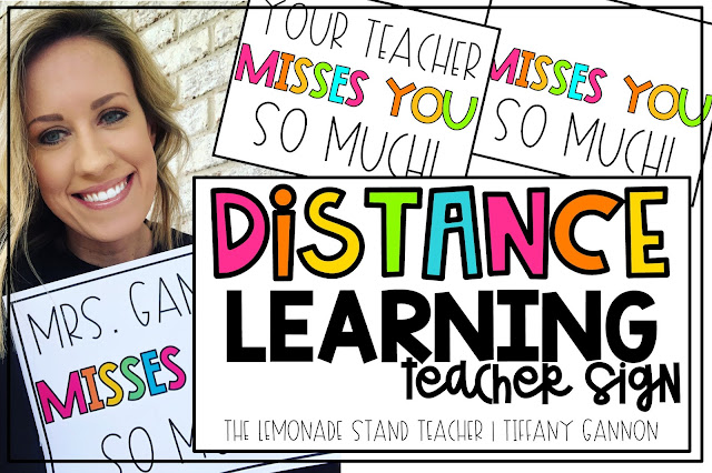 distance learning teacher sign