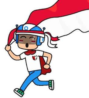 gambar animasi gif hari kemerdekaan indonesia 2020