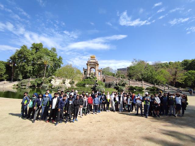 Els alumnes de 5è al Parc de la Ciutadella