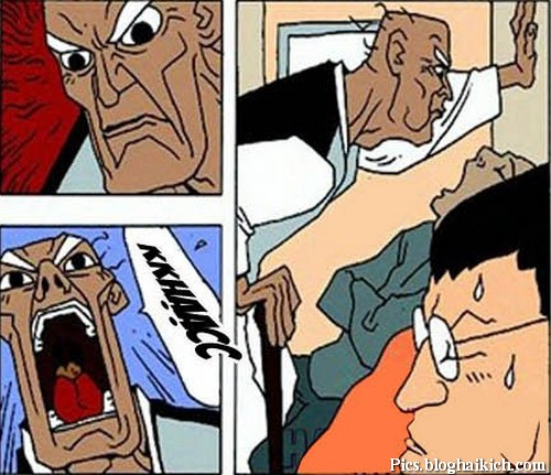 Cụ già khạc đờm vào miệng người đang ngủ