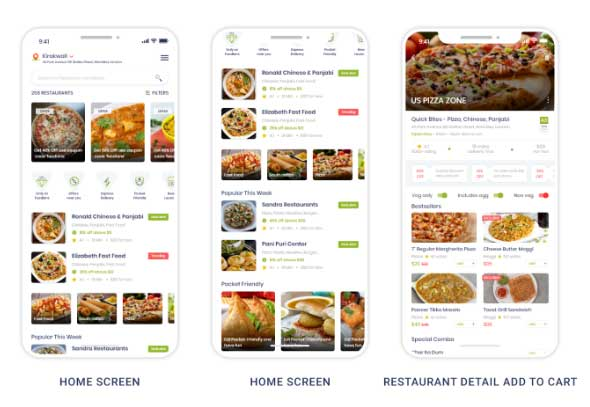 Grocery food delivery app with web panel