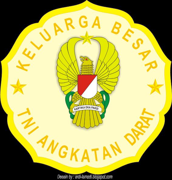 Gambar Logo Stiker TNI Angkatan Darat Indonesia