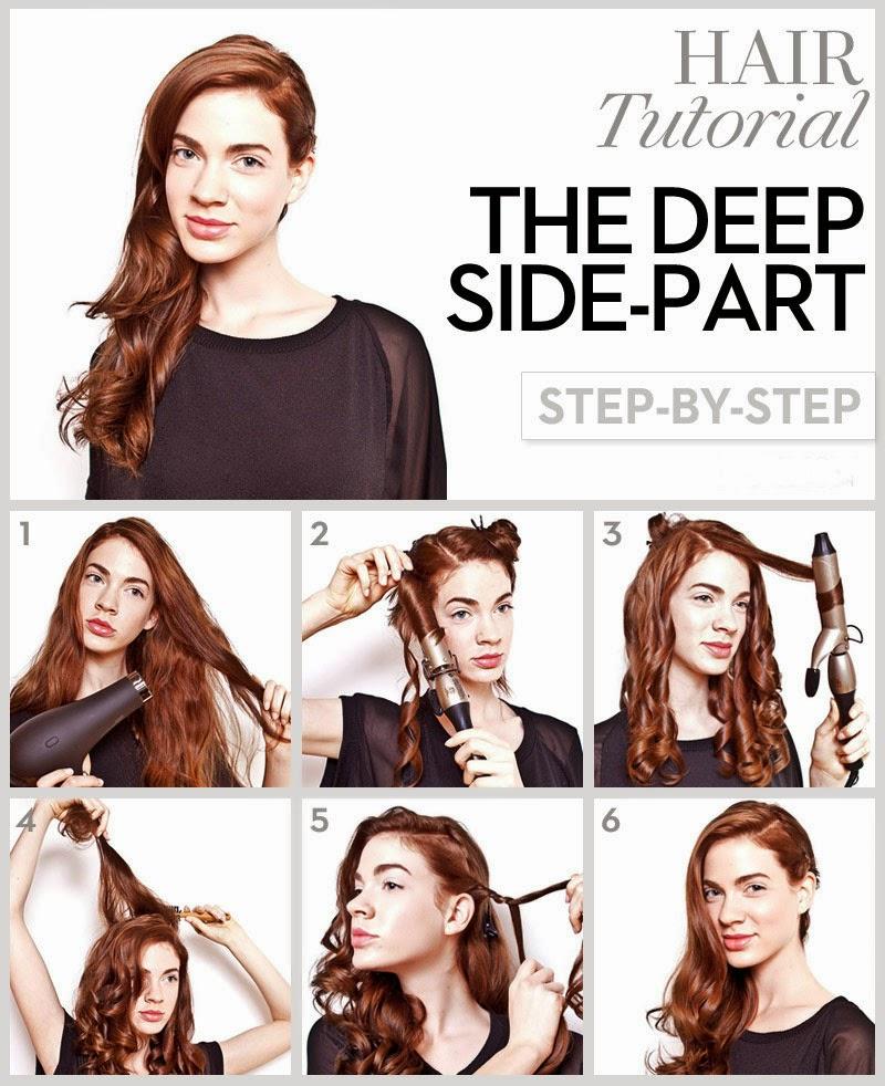 Enjoyable Tutorial Prom Hairstyle For Long Hair Deep Side Part Hair Tutorial Short Hairstyles Gunalazisus