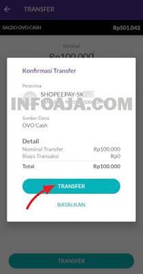 Transfer OVO ke Shopee